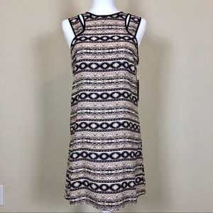 NWT Altar'd State Navy & Tan Tribal Dress - Size S